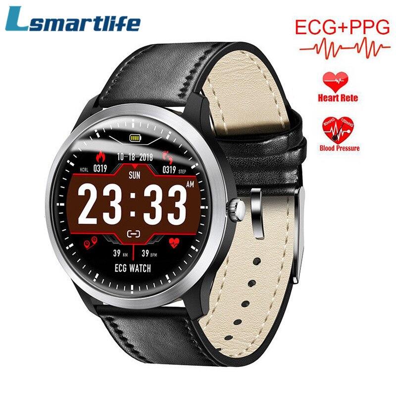 Lsmartlife N58 ekg PPG akıllı saat desteği elektrokardiyogram ölçüm 3D UI Multisport spor izci Smartwatch