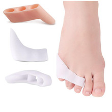 2pcs Three-hole Little Toe Separator Transparent Bunion Pain Relief Toe Straightener Protector Foot Care Tools Massager Pedicure