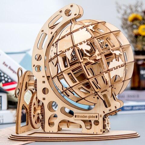 147 pcs diy rotativo globo 3d corte