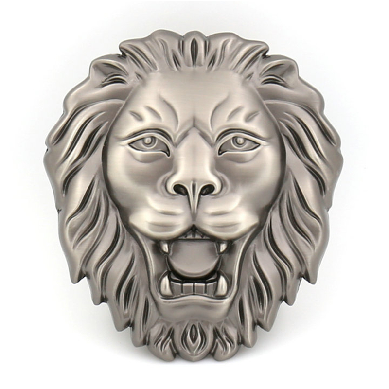 Lion Head Automatic Belt Buckle For Men Not Contain Body Fashion Suitable For Jeans Width 3.5cm Leather Waist Tape Accessories