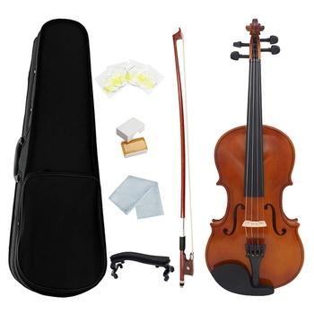 1 4 skrzypce naturalne akustyczne z litego drewna świerk klon falisty fornir skrzypce skrzypce z przypadku kalafonii łuk struny oparcie na ramię tanie i dobre opinie CN (pochodzenie) Maple Other Violin flame maple