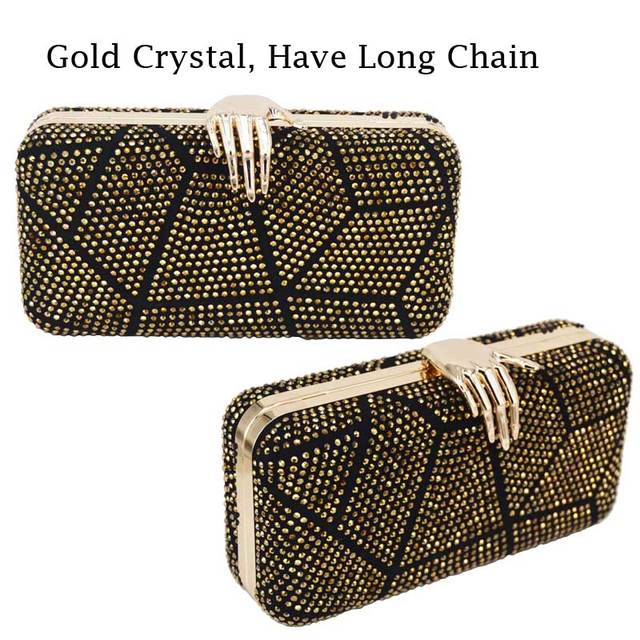 Newest Palm Design Evening Bag With Chain