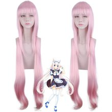 Anime Vanilla NEKOPARA Cosplay Wig 100 cm PINK Heat Resistant Synthetic Hair Vanilla Cosplay wigs(China)