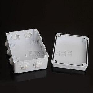 Image 2 - סיטונאי ABS פלסטיק IP65 עמיד למים צומת תיבת DIY חיצוני חשמל חיבור תיבת כבל סניף תיבת 200x100x70mm
