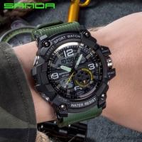 SANDA 2019 Sports Men's Watches Top Brand Luxury Military Quartz Watch Men Waterproof S Shock Wristwatches relogio masculino 759