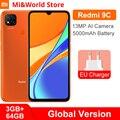 Глобальная версия Xiaomi Redmi 9C 9 C пикселей, 3 Гб оперативной памяти, 64 ГБ ROM, мобильный телефон Helio G35 Octa Core 6,53