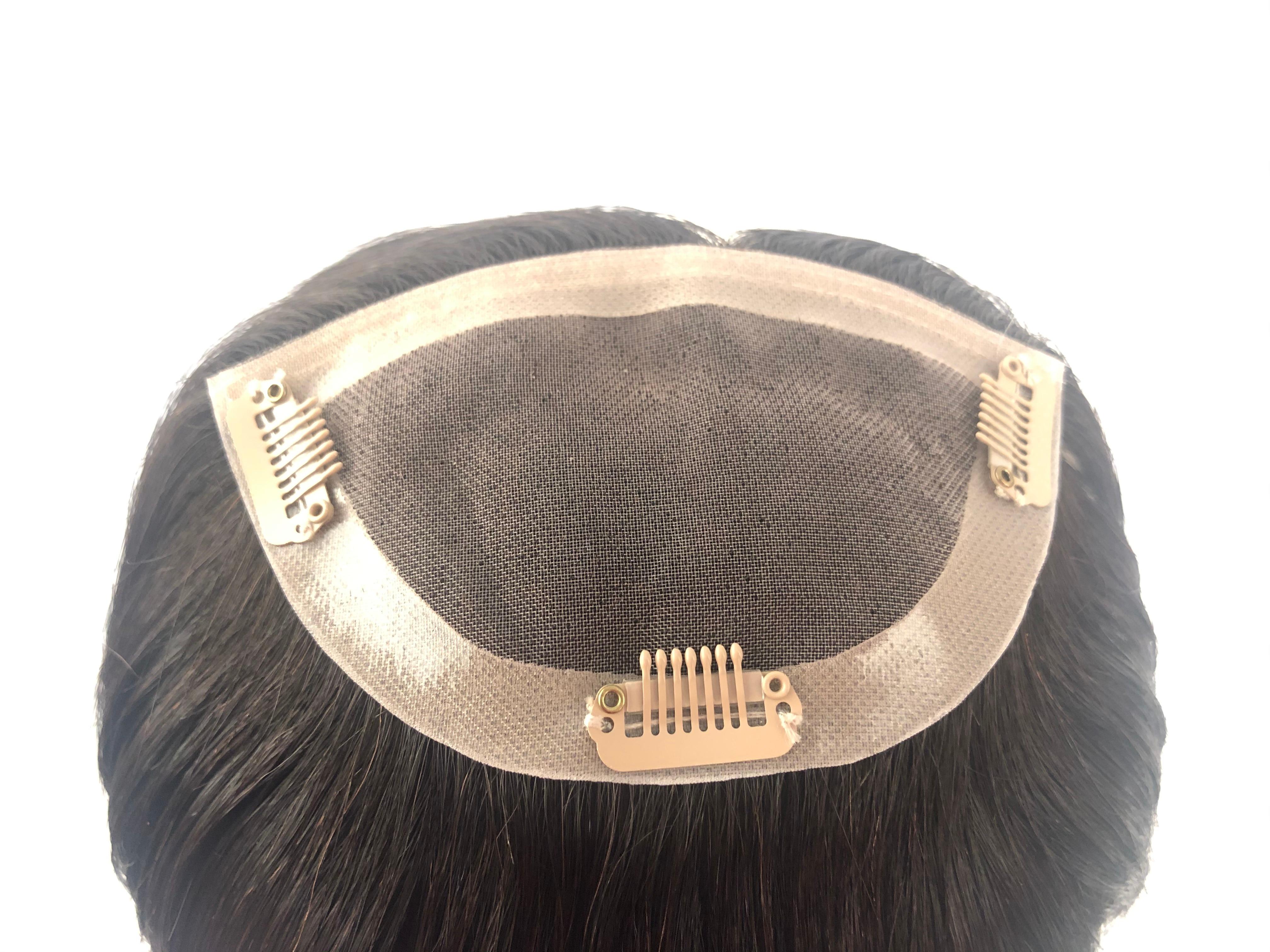de topper do cabelo humano respirável mono