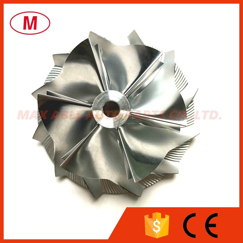 CT26 53,11/70,98 мм 6 + 6 лезвий высокопроизводительное турбокомпрессорное колесо/алюминий 2618/Фрезерное колесо для турбокомпрессора