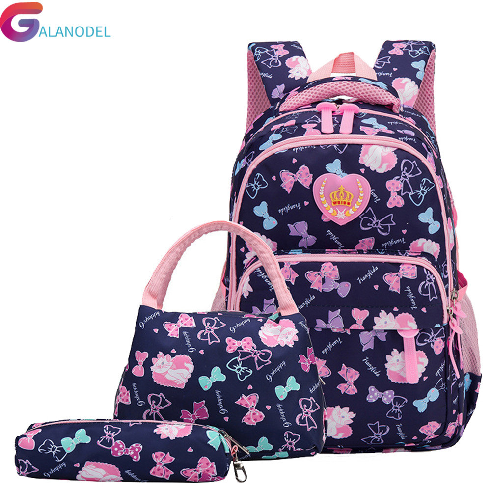 Bags Style Backpack School Preppy 3 Set /pcs School Orthopedic Satchel Backpacks For Children School Bag For Girls Mochilas