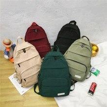 Backpack Women Rucksack Laptop School-Bag Travel Teenage-Grils Fashion Nylon for Anti-Theft