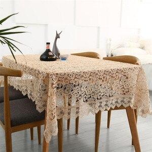 Image 4 - Гордая Роза светильник журнальный вышитый скатерти европейский кружевной Чайный Столик Ткань Домашний Декор прямоугольные покрытие стола