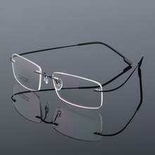 Vazrobe Alloy Rimless Male Female Spectacle Frame Unisex Transparent Clear Eyeglasses Frames Vintage Ultra-light Women Myopia