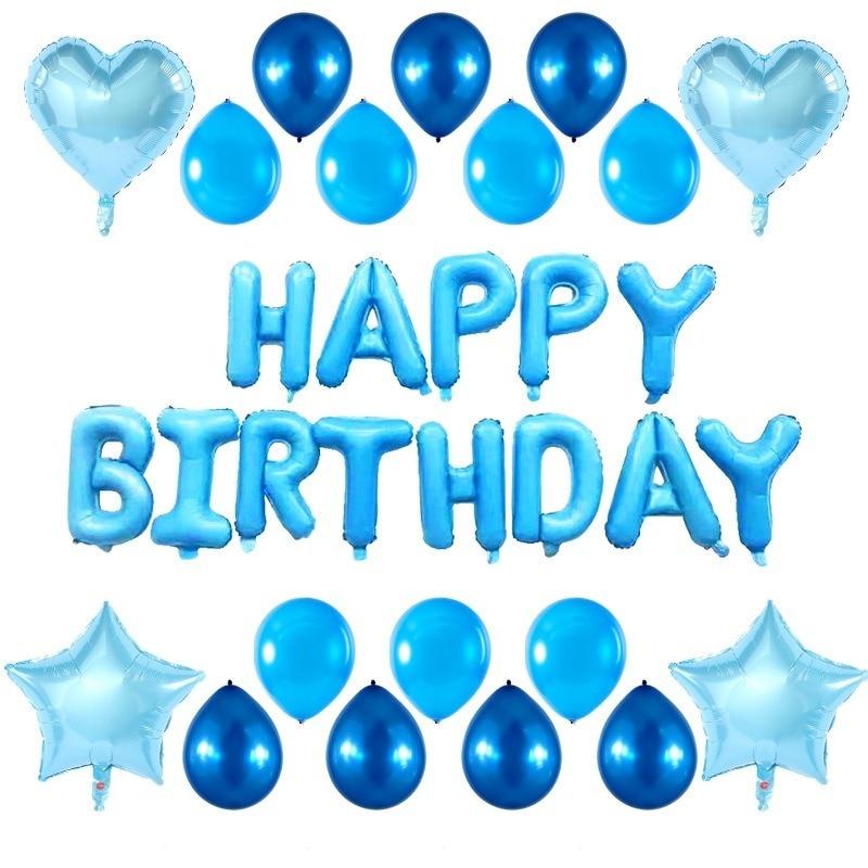 Креативные воздушные шары с днем рождения, комбинированные шары из фольги с буквами, набор для дня рождения, свадьбы, вечеринки, украшения
