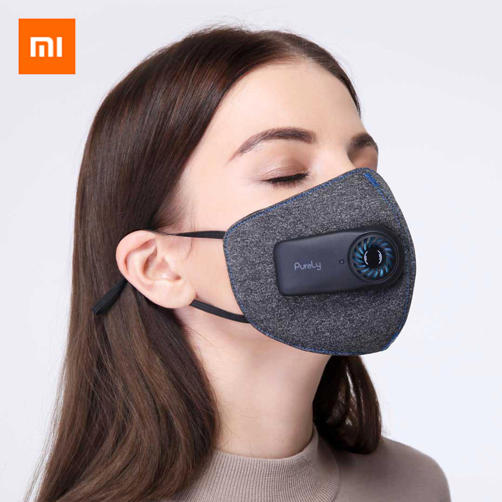 Original Xiaomi Purely Air Pollution Mouth Mask Anti-Pollution Anti Dust Rechargeable Reusable Respirator PM2.5 Filter Masks