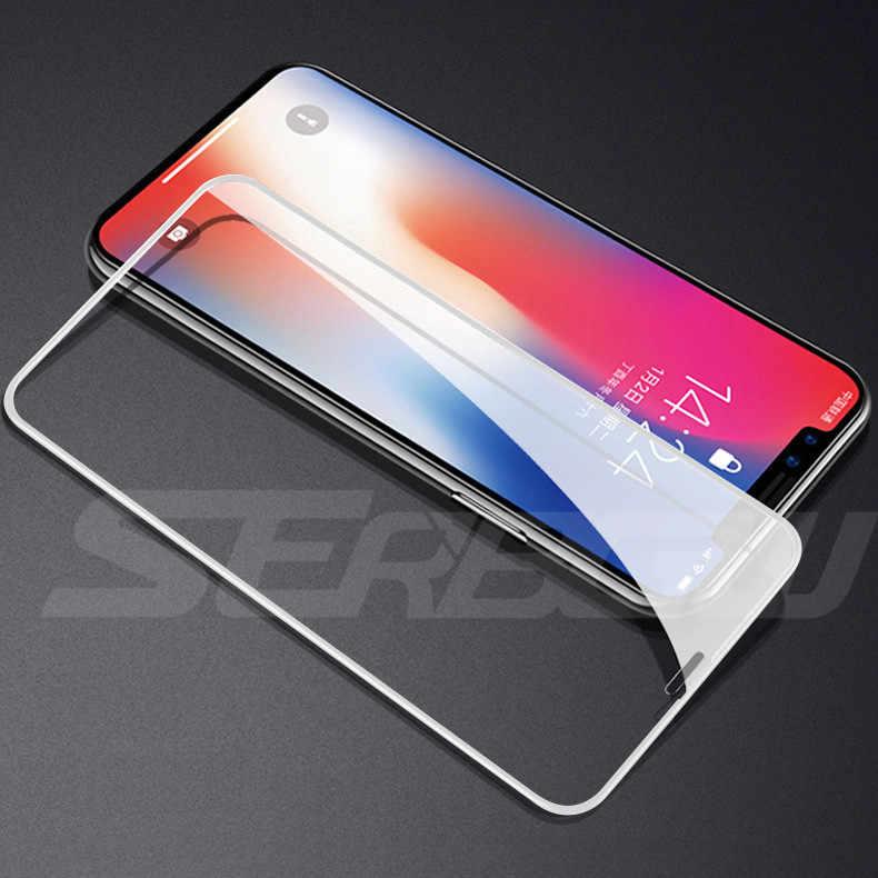 Nuevo vidrio templado de cubierta completa 99D para iPhone X XR XS 11 Pro Max Protector de pantalla para iPhone 8 7 6 6s Plus