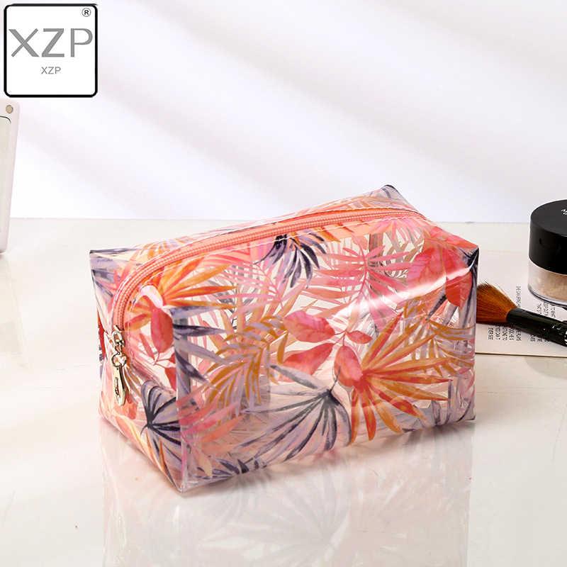 XZP wodoodporne przezroczyste kosmetyczne śliczne torby pokrowiec organizator na przybory do makijażu zatwierdzone przezroczyste etui kosmetyczka PVC Zipper Travel