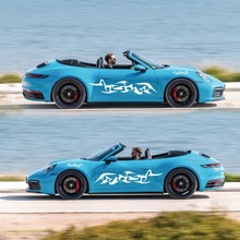 車ストライプデカール側ボディロングストライプビニール炎デコレーションステッカーデカール車のステッカー新