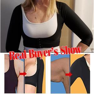 Image 1 - זרוע ריבון עליון חזרה תמיכה כתף סד חגורת יציבת מתקן נשים Shapewear רזה חלקה למעלה חזיית קרדיגן יבול למעלה
