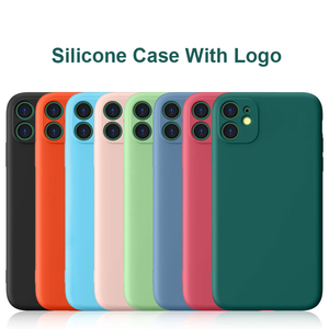 Silicone Soft Phone Case For iPhone 11 XS XR X 8 7 6 SE 2020 Full Cover Camera Lens Protection Case With Have Logo(China)