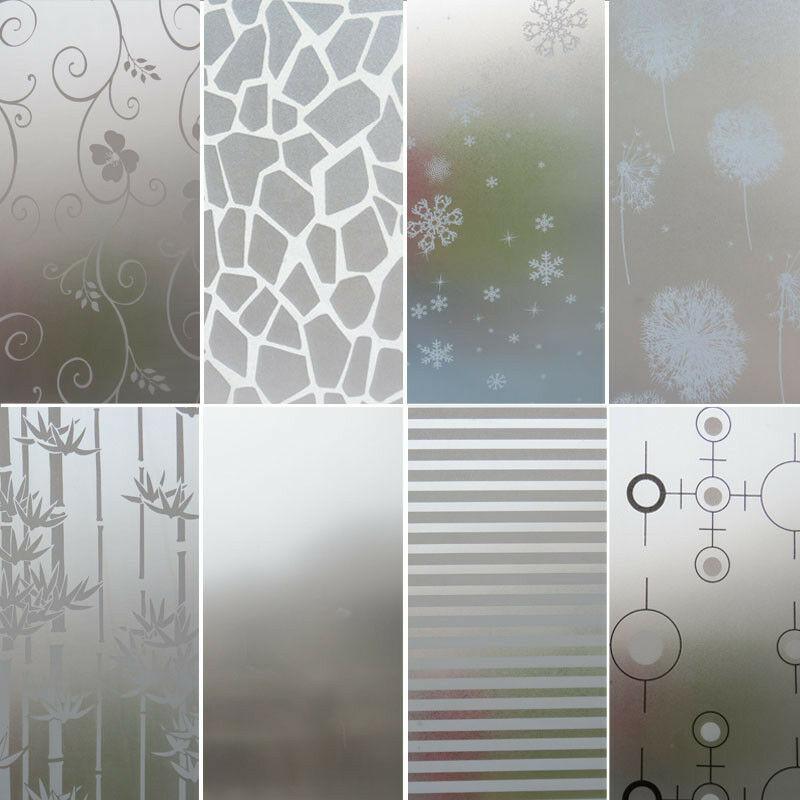 45X200cm givré verre anti-gel Film autocollant chambre salle de bains toilette cuisine sans colle confidentialité décalque décoration de la maison