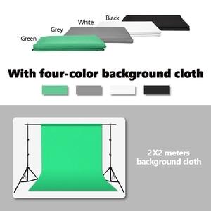 Image 2 - ZUOCHEN Kit de iluminación de estudio Kit de caja difusora, 2 Softbox + 3 fondos + 6,5x6,5 pies, Kit de soporte de fondo + 4x25W bombilla LED