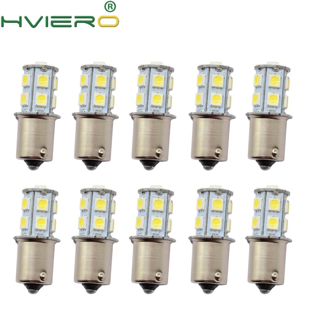 10X 1156 BA15S 1157 BAY15D P21 5W BA15D 13Led 5050 Auto Led Turn Signal Lights Brake Tail Lamps Auto Rear Reverse Bulbs DC 12V