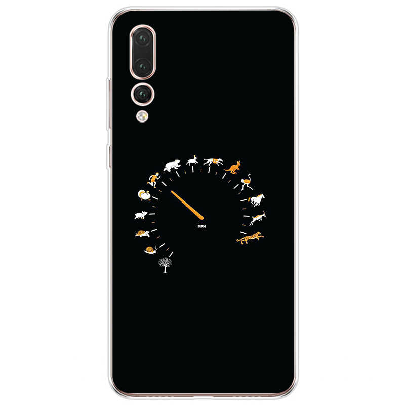 Tối Giản Nền Đen Biểu Tượng Bao Da Silicone Mềm TPU Ốp Lưng Điện Thoại Huawei P9 P10 P20 P30 Lite P20 P30 Pro p9 P10 P20 Plus