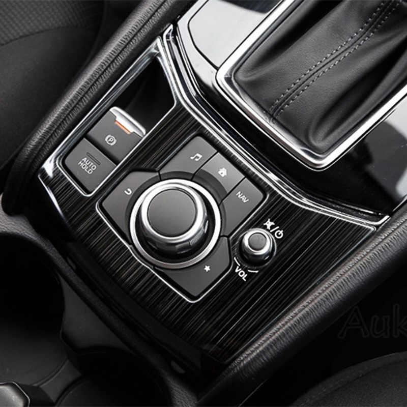لمازدا CX-5 CX5 KF 2017-2020 LHD سيارة والعتاد التحول صندوق لوحة التحكم المركزية غطاء ملصقات شرائط تقليم مقبلات السيارات التصميم