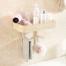 Nayachic Wonderful life Plastic Bathroom Toilet Bowl Sundries Organizer Storage Rack Wall Hanging Shelf Space Saver