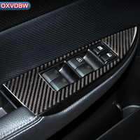 For subaru outback Legacy B4 Car Interior Carbon Fiber Window Control Switch Panel Sticker Decor 2010 2014 Styling Accessaries