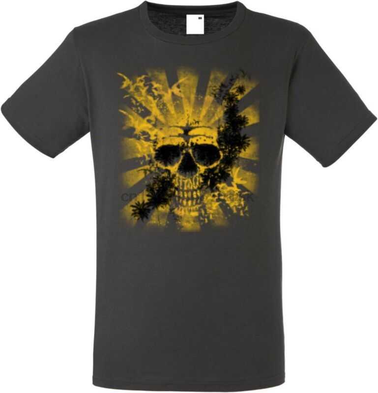 T Shirt IM Graphiteton MIT Einem TATTOO-Gothik-& Bikermotiv Modell Kuning Hantu