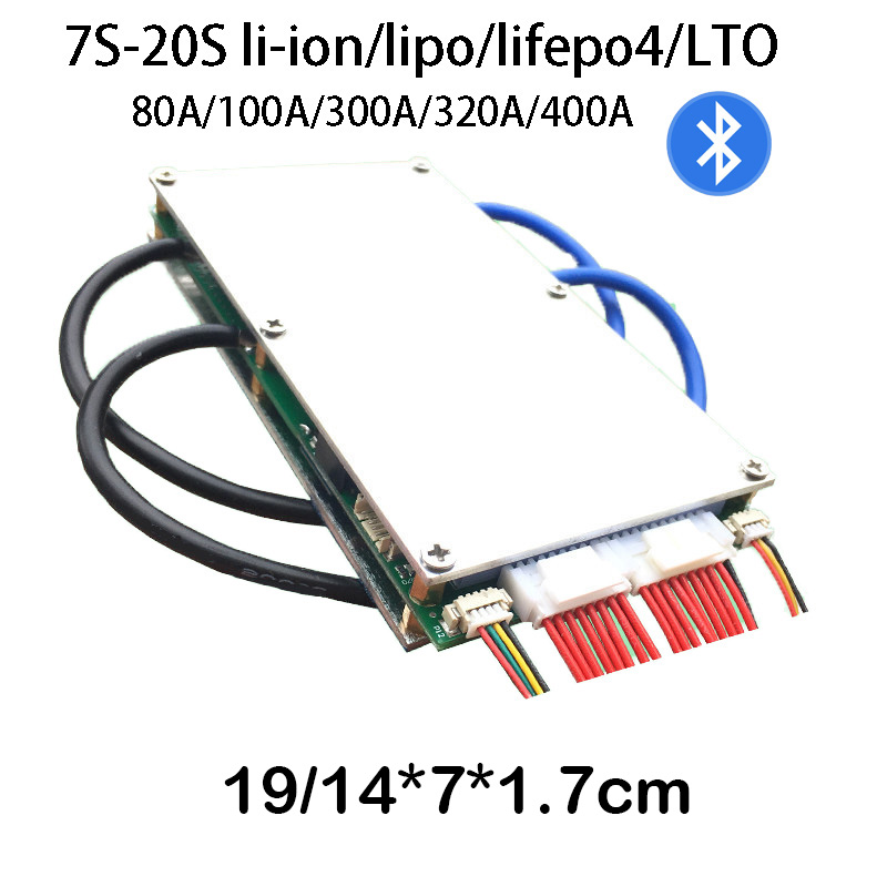 Smart Bluetooth 7S 20S CELL Lifepo4 li ion Battery protection Board BMS 400A 320A 300A 100A 80A PHONE APP 8S 10S 12S 13S 14S 16S-in Battery Accessories from Consumer Electronics    1