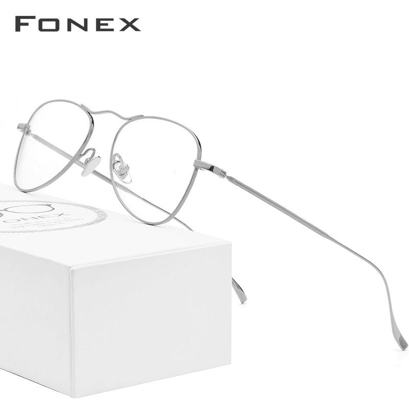 B Pure Titanium Glasses Frame Men Ultralight New Women Aviation Myopia Optical Prescription Eyeglasses High Quality