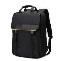 YINUO Men's slim backpack, Fashion business backpack 15.6 laptop notebook bag premium waterproof oxford added genuine leather