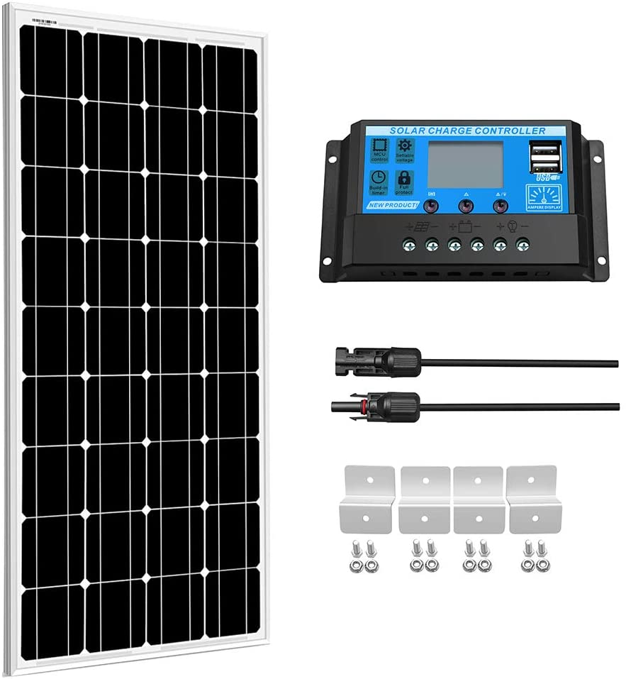 Painel solar de vidro xinpuguang, 100w 200w 18v 12v 24v temperatura de vidro leve carregador de bateria solar de células