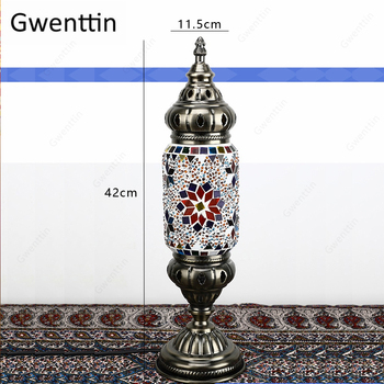 Turkse Mozaïek Tafellamp Voor Slaapkamer Verlichtingsarmaturen Led Night Lights Bedlampjes Moderne Loft Industriële Home Decor Luminarias
