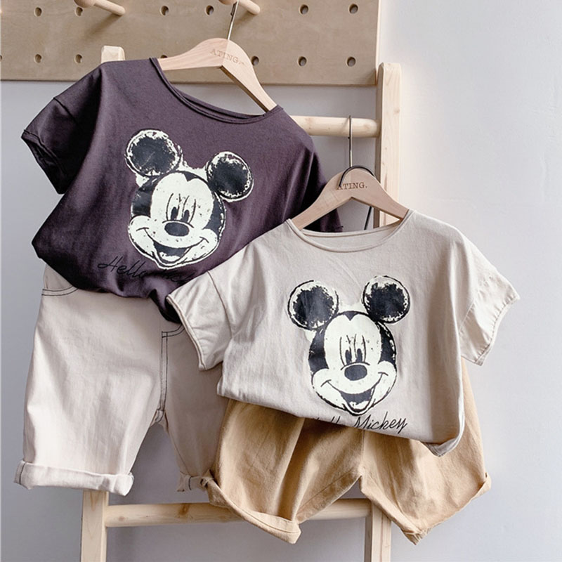 Unisex Baby Summer T Shirt Cartoon Printed Short Sleeve Tops Tees Kids Children Casual Clothing Cotton T-shirt For Girls Boys