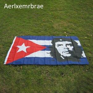 Free Shipping aerlxembrae 3x5ft Polyester cuba Flag cuba revolution hero EI CHE Ernesto Guevara Flag(China)