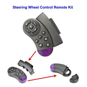 Portable Car Steering Wheel Wireless Controller MP5 Media Multimedia Player DVD Car Steering Wheel Multimedia Key image
