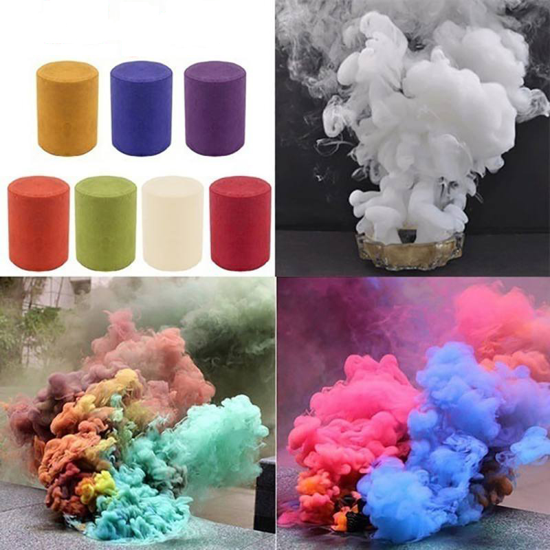 Party Colorful Smoke Fog Cake Smoke Effect Show Round Bomb Photography Aid Toy Gifts Birthday  Halloween  DIY Supplies
