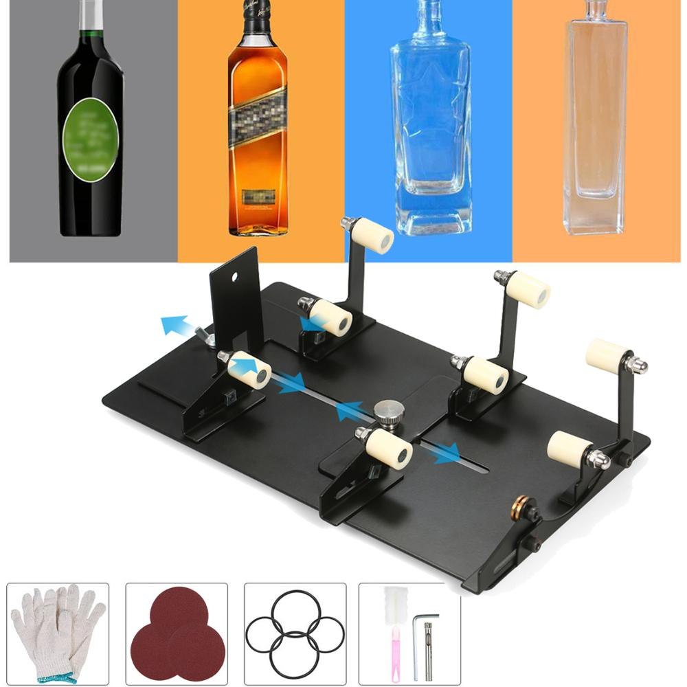 Стеклянная бутылка DIY инструмент для резки квадратного круглого винного пива стеклянные скульптуры резак машина для пива стеклянные режущ...