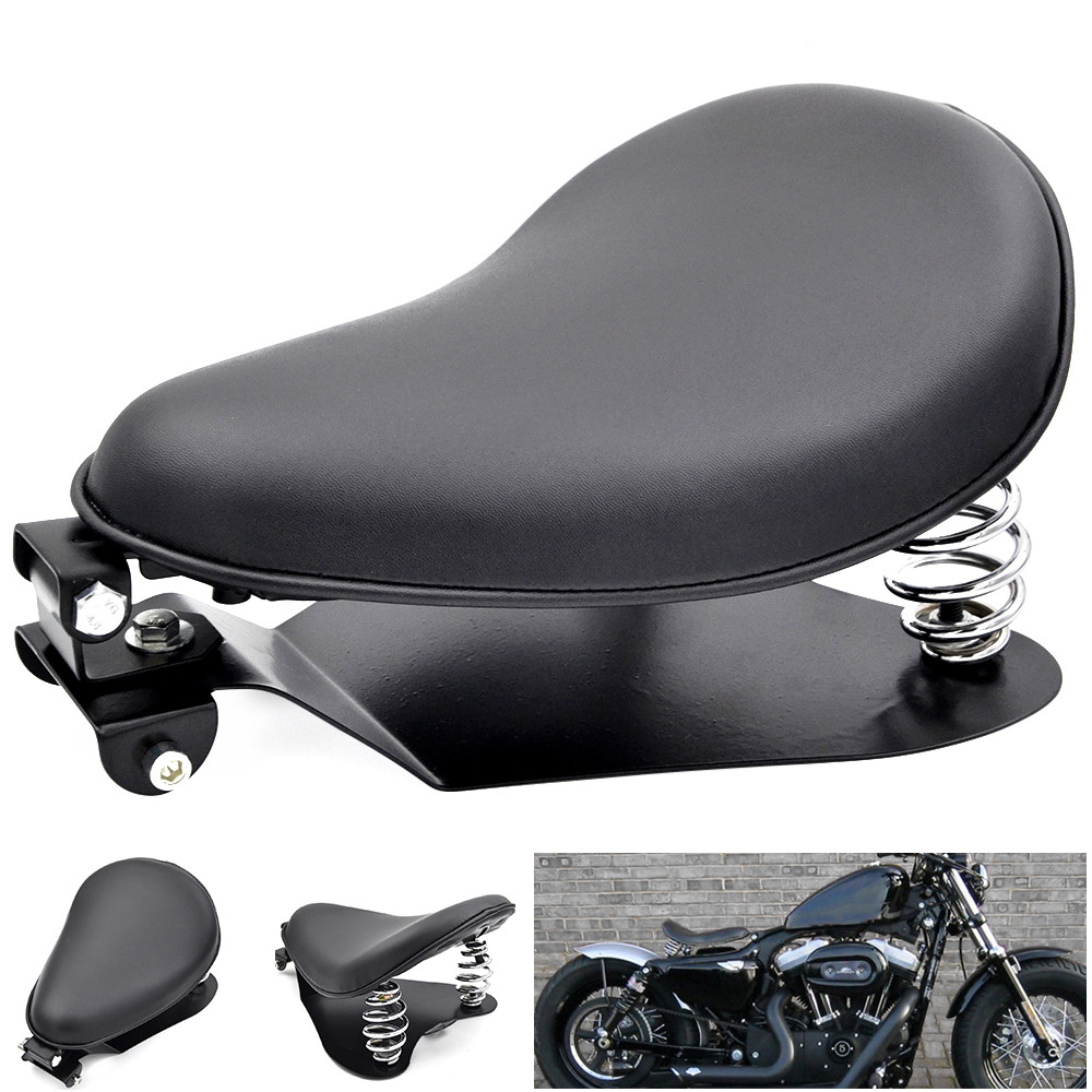 Hot Sale New Black Leather Solo <font><b>Seat</b></font> Base Spring Bracket Kit For Harley Sportster <font><b>Iron</b></font> <font><b>883</b></font> 1200 XL 48 Custom Chopper Bobber image