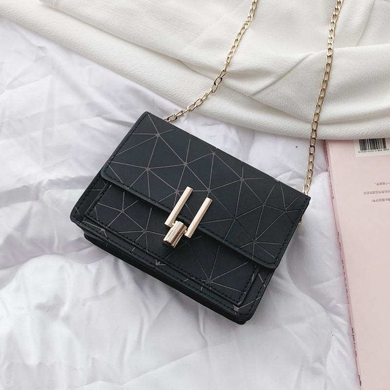 Women Fashion Shoulder Messenger Bags Ladies Geometric Plaid Crossbody Handbag Female Mini Flap Bag New Korean Style Tote SS0425 (2)