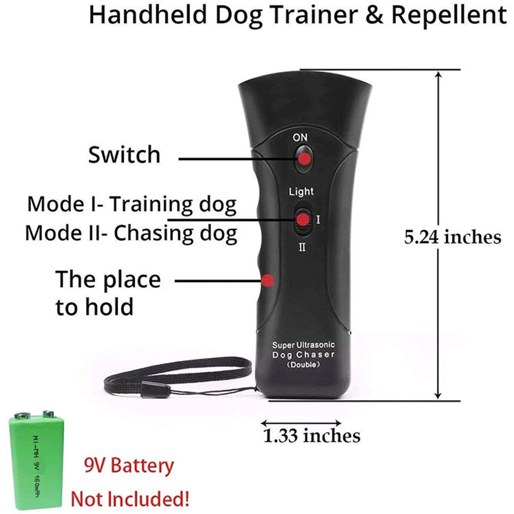 New Dog Repeller Ultrasound Pet Training Anti Barking Control Devices 3 in 1 Stop Bark Deterrents Trainer-5