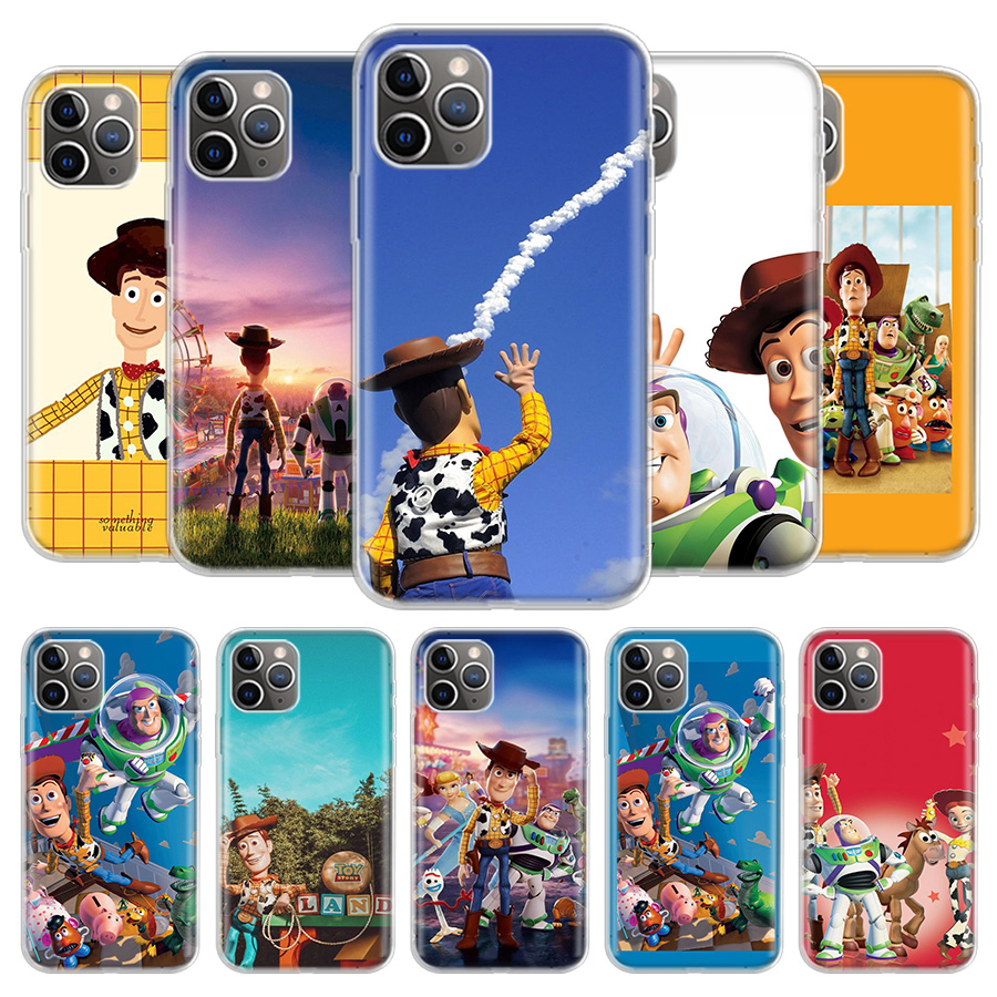 <font><b>Toy</b></font> <font><b>Story</b></font> Phone Case For <font><b>iPhone</b></font> 11 Pro 7 <font><b>6</b></font> X 8 6S Plus XS MAX + XR 5S Eleven Art TPU Cover Coque <font><b>Capa</b></font> Shell image