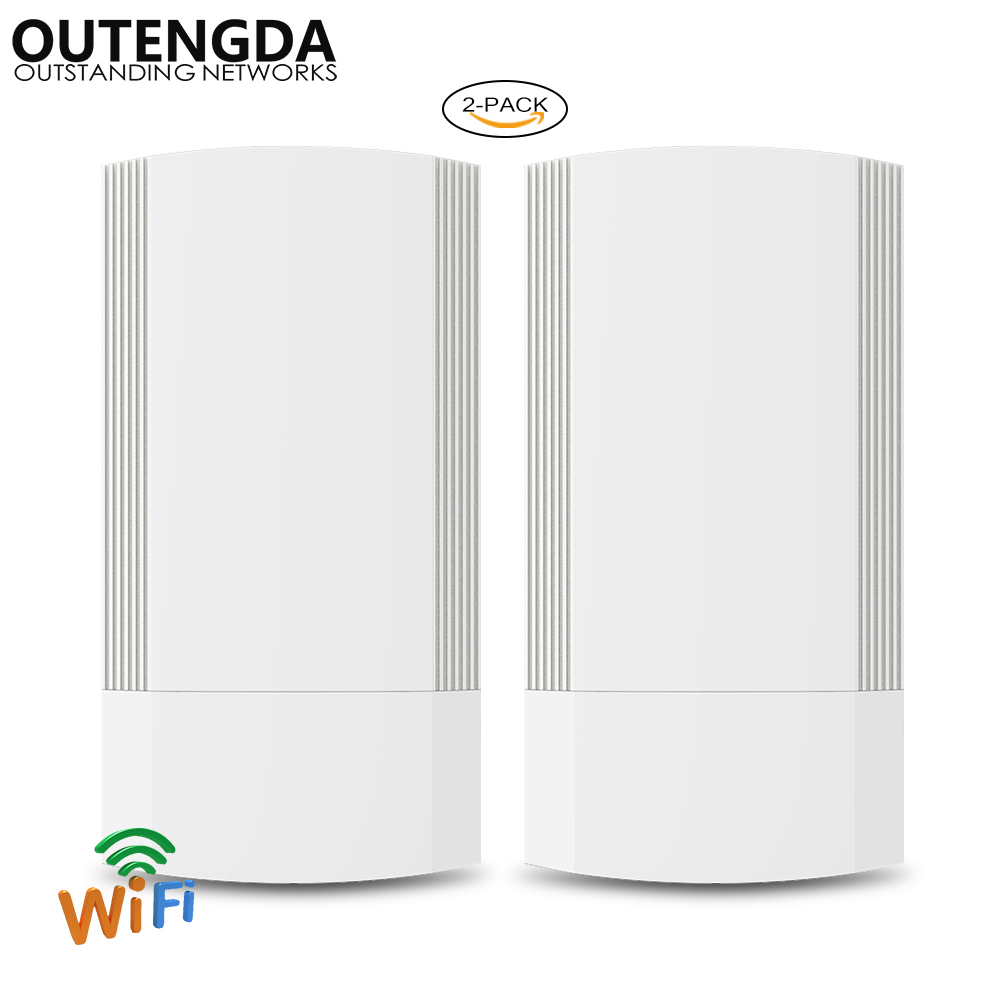 2PCS 5GHz Outdoor CPE Elevator Wireless Bridge 1-2KM Range 900Mbps AP Router Access Point WIFI Repeater Extender Support WDS PoE image