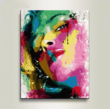 DIY Digital Painting with Toolkit  Figure Art Mural Living Room Wedding Home Decoration Oil