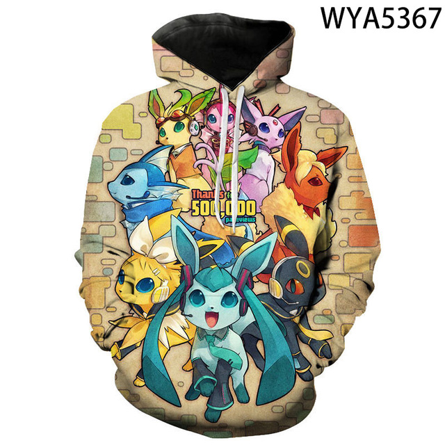 New Games Pokemon Fashion Casual Boy Girl Kids 3D Printed Hoodies Sweatshirts Men Women Children Long Sleeve Streetwear Jacket 4