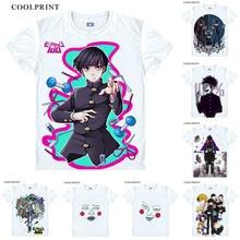 T-Shirt Mob Psycho Custom Anime Short-Sleeve 100-Mobu Kageyama-Tee Dimple Cosplay Saiko