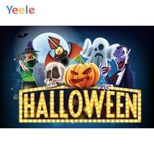 Yeele Halloween Photocall Witch Skull Ghost Pumpkin Photography Backdrops Personalized Photographic Backgrounds For Photo Studio